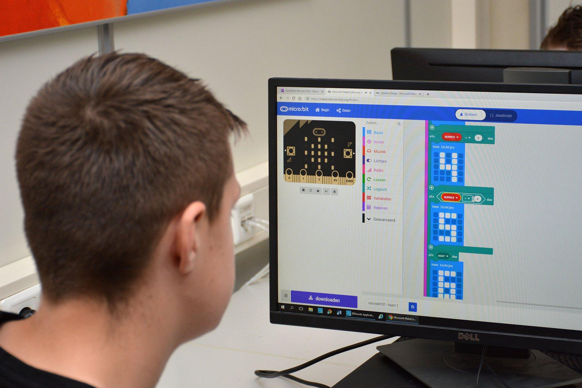 Werken met de MicroBit